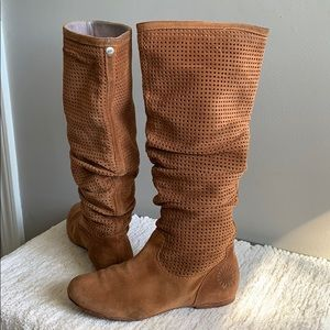 Ugg Abeline Brown leather Slouchy boot Size 6